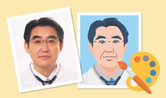 病院・クリニック専用ホームページ制作のお医者さんドットコム 似顔絵イラスト